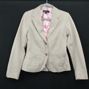 Boden 100% Cotton Beige Blazer Jacket